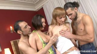 Русское порно: Henessy and Amanda - Double Anal Party